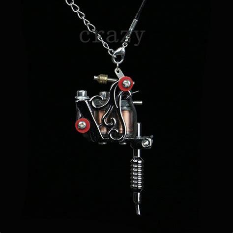 tattoo machine jewelry 1pc fashion mini tattoo machine jewelry pendant black cool