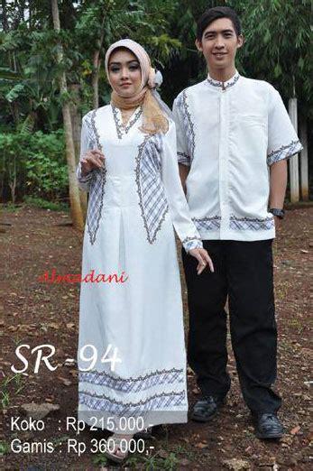 baju keluarga muslim warna putih almadani sr 94