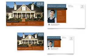 postcard designs templates residential realtor postcard template design