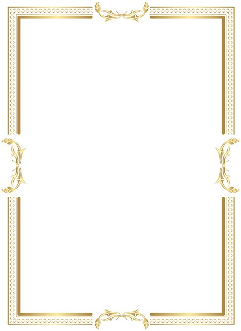 transparent background invitations announcements zazzle gold border frame transparent png clip art gallery