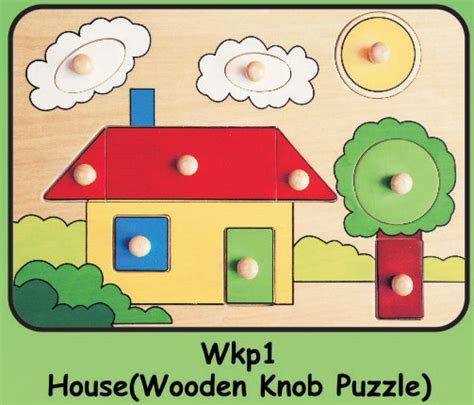 Wooden Knob Puzzles by Wooden Knob Puzzle Quot House Quot Educational Toys