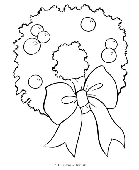 holly wreath coloring page bluebonkers wreaths mistletoe poinsettia holly