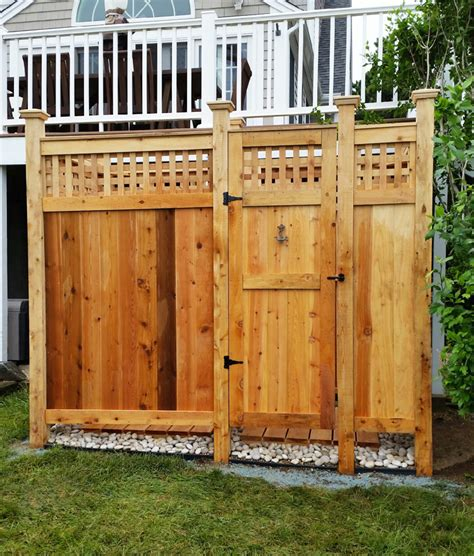 Outdoor Shower Doors Outdoor Shower Kits Outdoor Shower Enclosure Kits Cape Cod Deluxe Outdoor Shower Mixer With