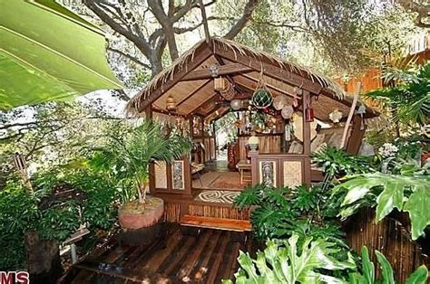 Tiki Hut House by L A Studio City Home With Tiki Hut Bar For Sale
