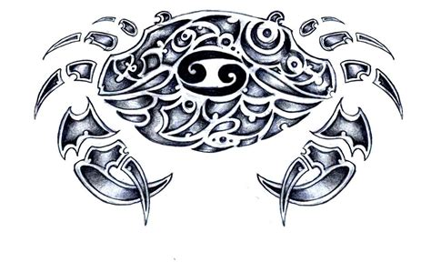cancer sign tribal tattoo 45 zodiac tattoos designs and ideas