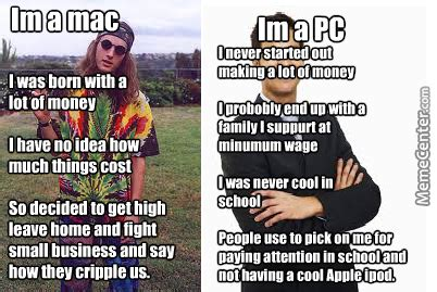 User Memes - mac vs pc memes image memes at relatably com