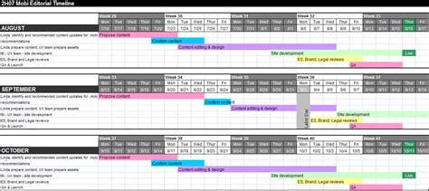 Media Timeline Template Jose Mulinohouse Co Launch Calendar Template