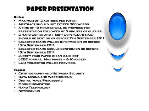 How To Make Paper Presentation - how to make technical paper presentation eventz dazzlit 11