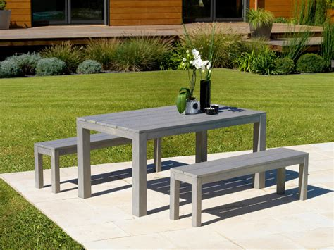 table et bancs ensemble cagne table et bancs gris laqu 233 s 233 rus 233 salon