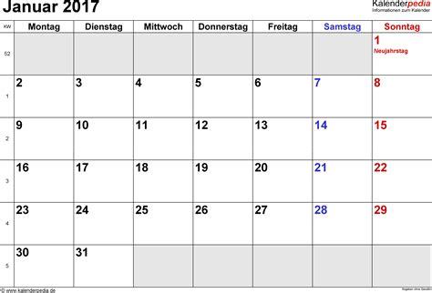 Kalendár Na 2018 Kalender Januar 2017 Als Word Vorlagen
