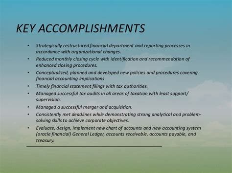 accomplishments capabilities