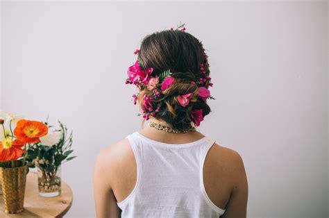 Wedding Hair Braid With Flowers by Hair Tutorial Flower Braid Green Wedding Shoes