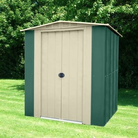 Garden Shed Metal by Metal Apex Garden Shed 6 X 4ft In Green And Homegenies