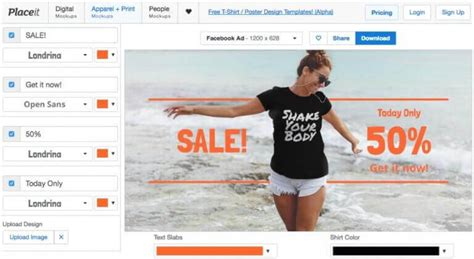 templates for website like facebook how to create teespring facebook ads like a professional