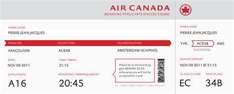 boarding pass air canada boarding pass emily carr