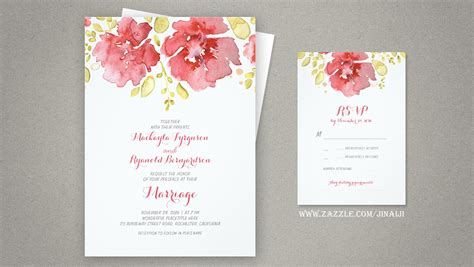 painted watercolor wedding invitations read more watercolor floral wedding invitations