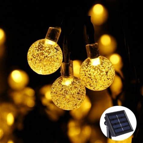 globe solar string lights qedertek solar outdoor string lights 20ft 30 led