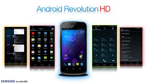 android revolution hd rom android revolution hd 11 0 high qual samsung galaxy nexus