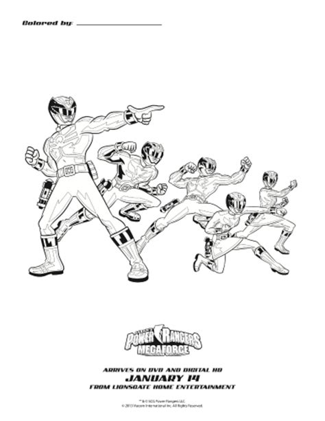 robo knight coloring page power rangers megaforce printable coloring page mama