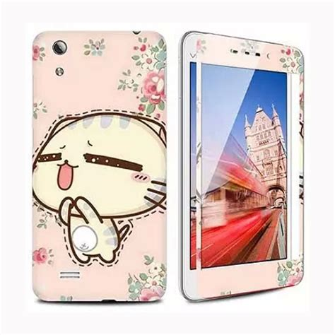 singing cat kawaii luxury sticker for vivo y18 tempered glass screen protector anti