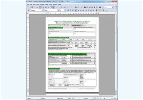 electrical minor works certificate template minor electrical installation works certificate