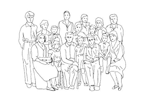 coloring pages of extended family extended family clipart black and white clipartxtras