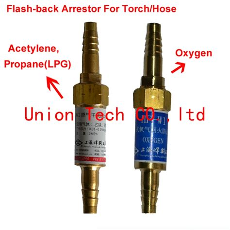 oxy fuel welding cutting rubber hose or torch safety valve flashback arrestor for oxygen