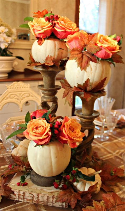 Thanksgiving Table Centerpieces Stunning Thanksgiving Tablescapes From Craftaholics Anonymous