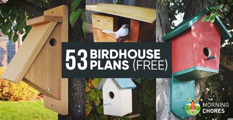 build a house free 53 diy bird house plans that will attract them to your garden