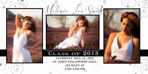 free graduation announcement templates free photoshop template graduation invitation 3