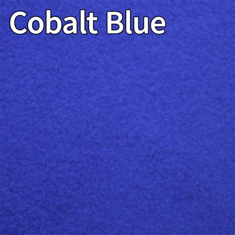 cobalt blue color colour chart for fleece summer suits t shirts and faux