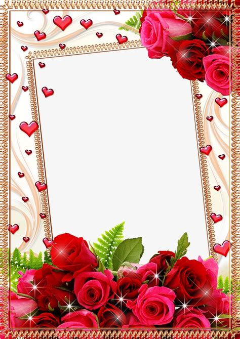 cornici psd mood frame pictures flower border frame png and psd file