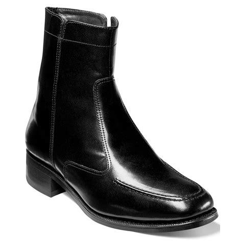florsheim boots florsheim essex moc toe ankle boots in black for lyst