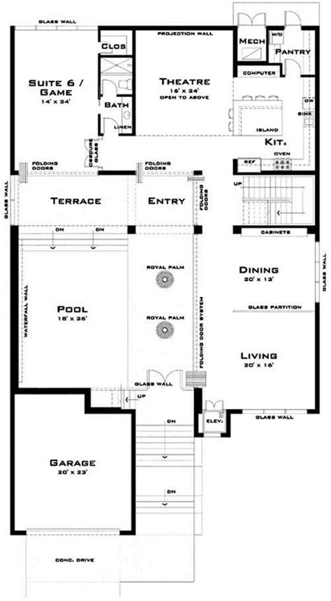modern luxury floor plans luxury modern house plans