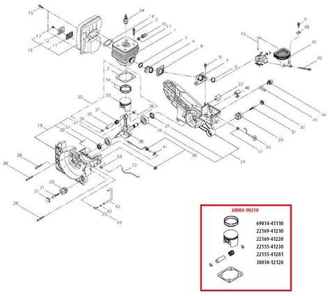 shindaiwa trimmer parts diagram shindaiwa ec7500epa and 7600epa cut saws parts