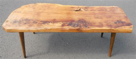 sold real wood rustic style coffee table