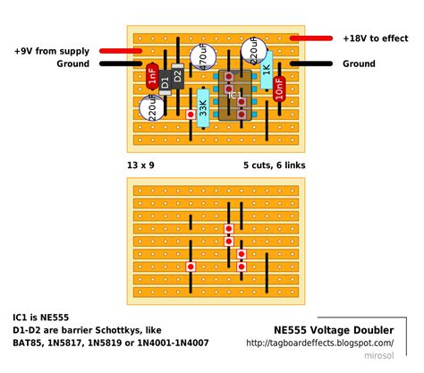 pcb design layout job uk guitar fx layouts ne555 voltage doubler