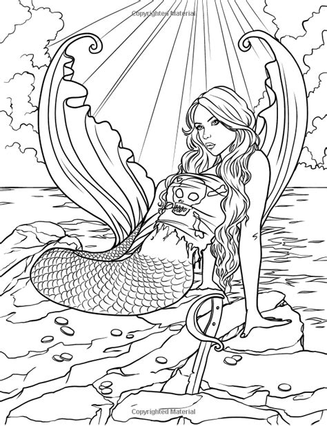 coloring pages for adults mythical mermaid myth mythical mystical legend mermaids siren