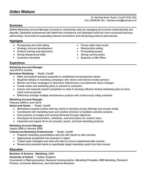 sle account manager resume objective best account manager resume exle livecareer