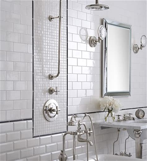 Bathroom Tile Ideas White Beveled Subway Tile Design Ideas