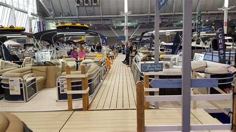boston boat show 2017 02 11 17 come see the biggest and the best pontoon display