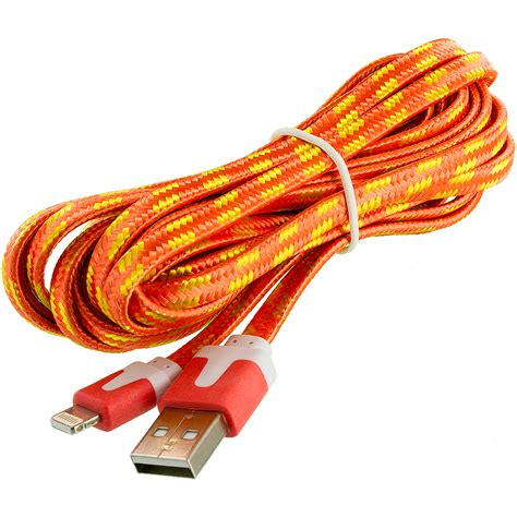 noodle rope braided sync usb data charger cable cord 10ft