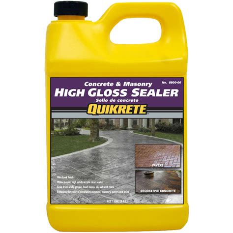 quikrete high gloss sealer wet look gal