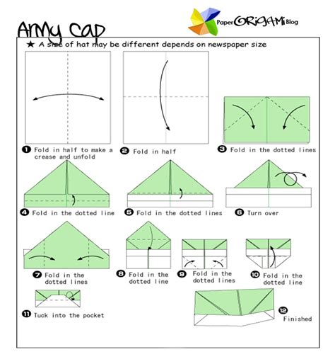 Make Paper Hats - news paper army cap origami a cap badge also known as