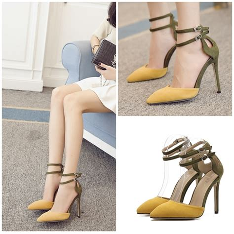Promo Sepatu Cewek Import Batam Slip On Shoes Wa 7994 jual shh3454 yellow sepatu heels import 10 5cm
