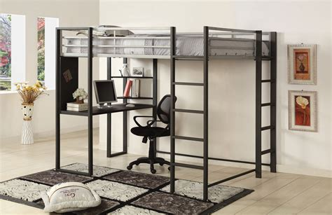 metal frame bunk bed with desk loft bed with desk designs features 187 inoutinterior