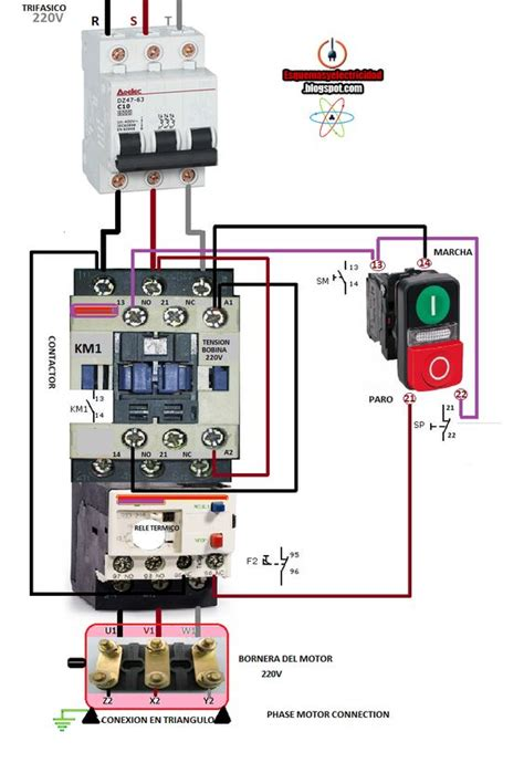 electrical diagrams phase motor connection electryc and