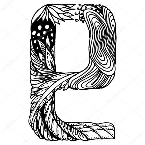 lettere stilizzate lettere stilizzate di zentangle lettera e vettoriali