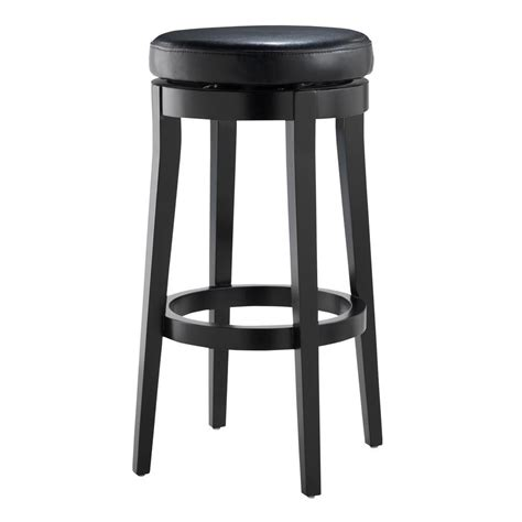Black Swivel Bar Stool Home Decorators Collection 30 In Black Cushioned Swivel Bar Stool In Black 0847100700 The