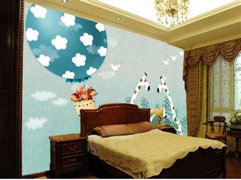 giraffe wallpaper for bedrooms custom 3d photo wallpaper kids room mural giraffe hot air